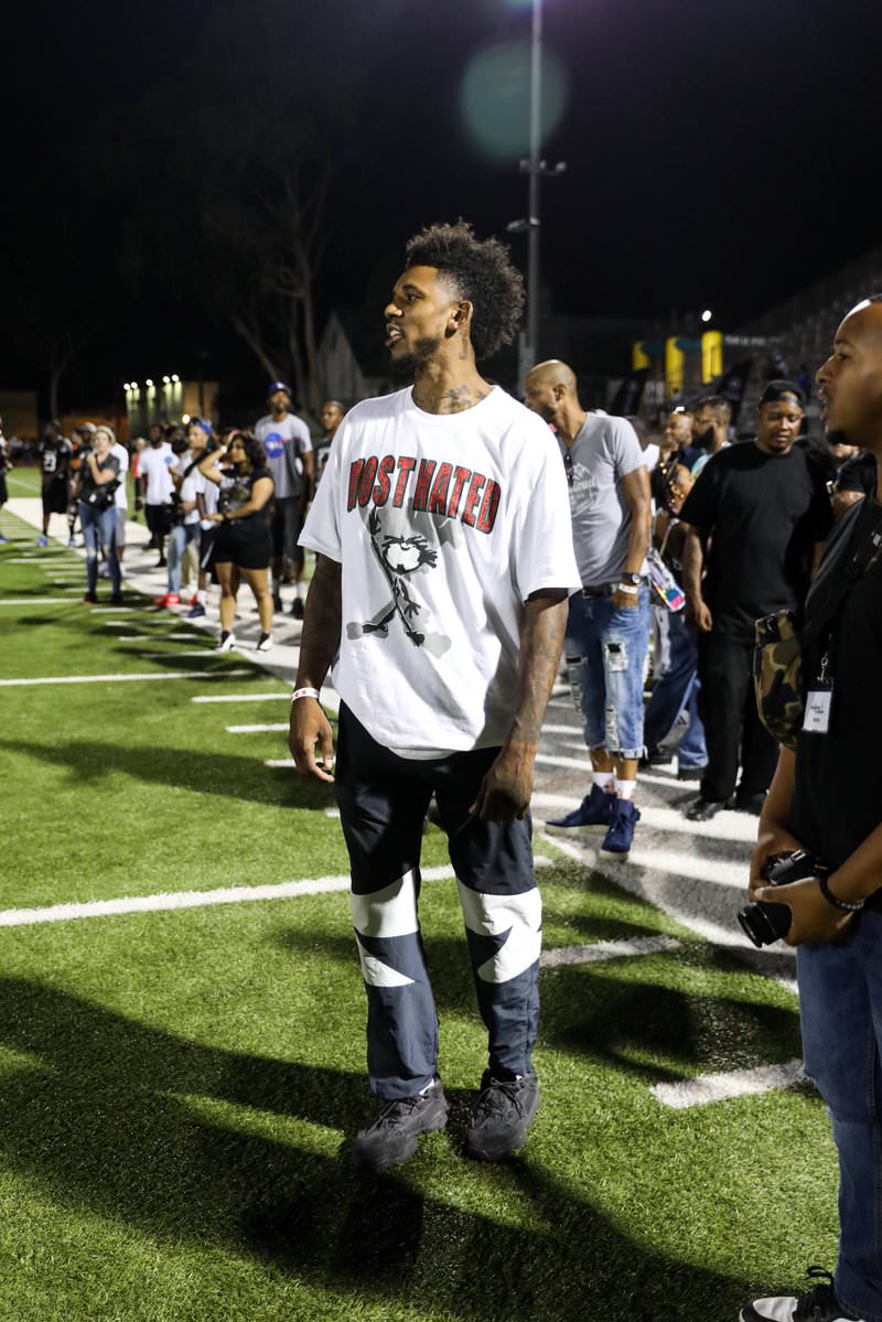 Nick Young in the adidas Yeezy 500