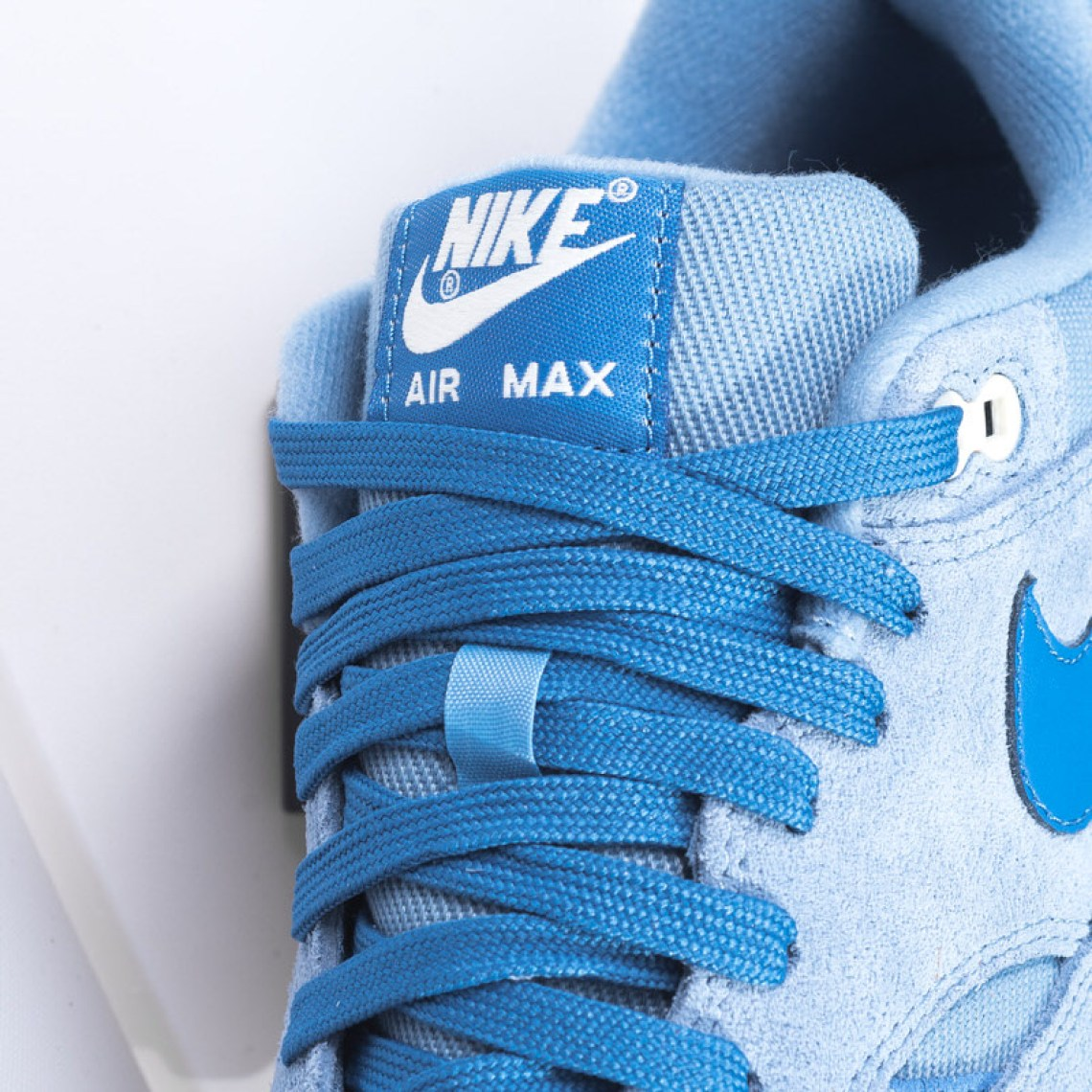 """on sale 3f739 a808d The Nike Air Max 1 Premium """"Work Blue"""" is available now at Sneaker Politics."""