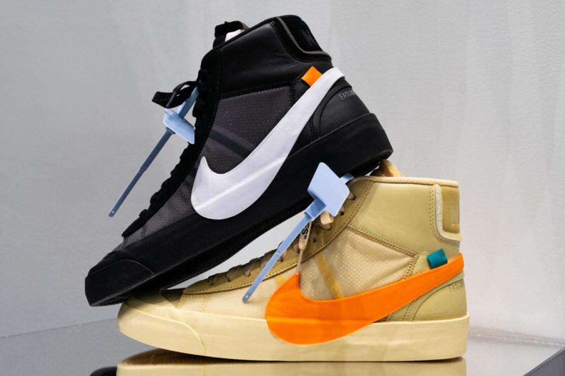 """5525aa9f5dae Off-White x Nike Blazer """"Spooky Pack""""    Closer Look"""