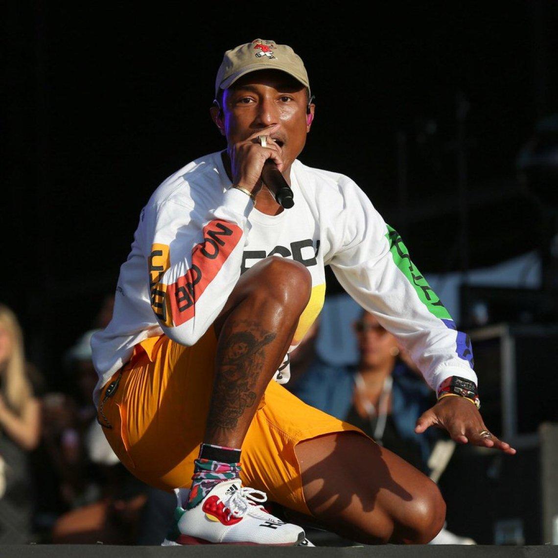 Pharrell Williams in the Pharrell Williams x adidas Solar Glide ST