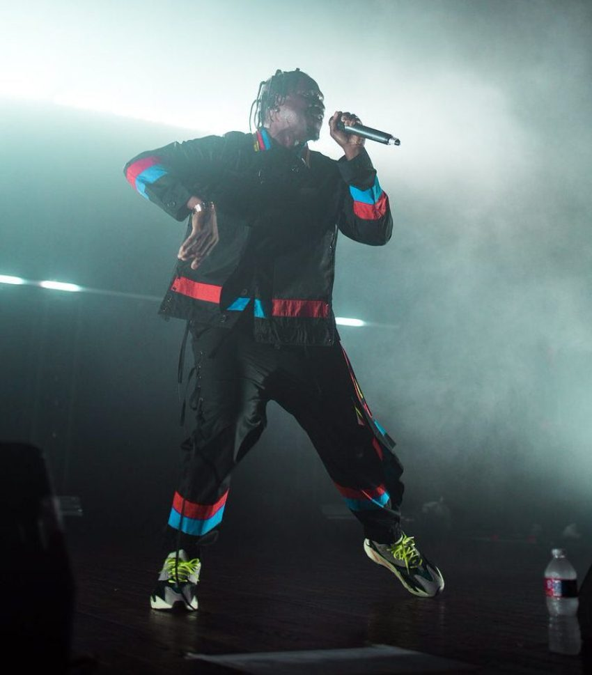 Pusha T in the adidas Yeezy Boost 700