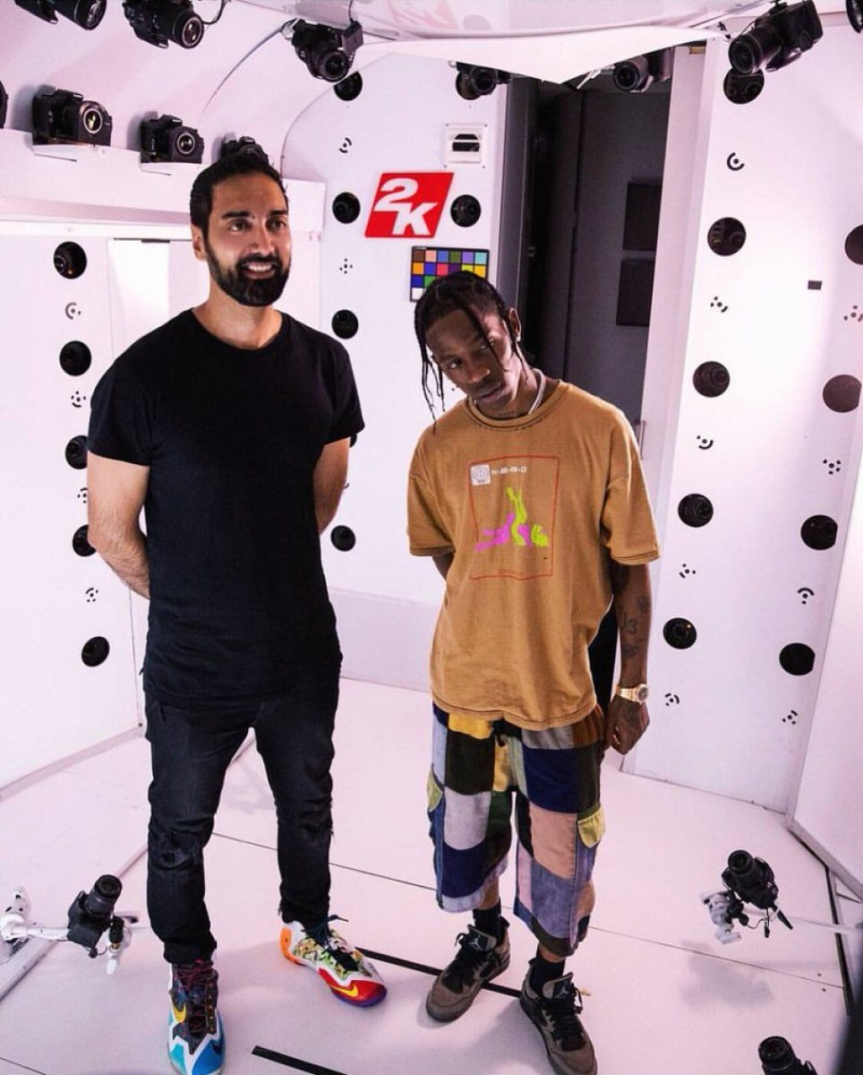 """Ronnie 2K in the Nike What the Lebron 11 & Travis Scott in the Travis Scott x Air Jordan 4 """"Friends and Family"""""""
