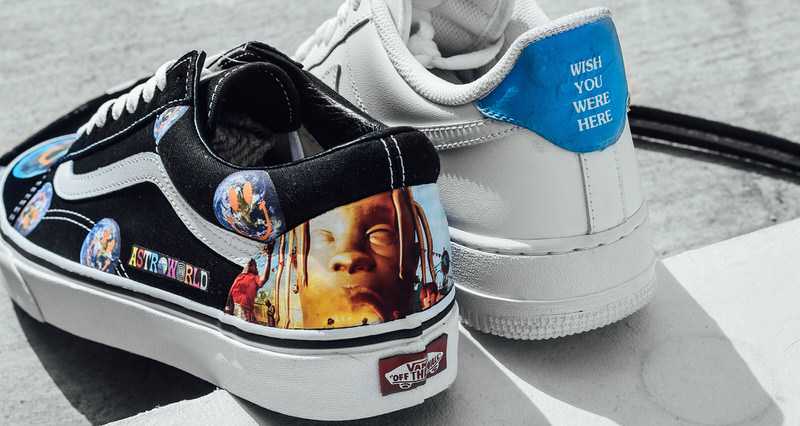 astroworld inspiration appears on customized classics