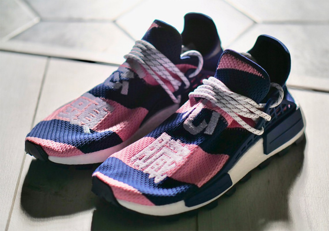3424f9c8c4d2c BBC x Pharrell x adidas NMD Hu Exclusive October 2018