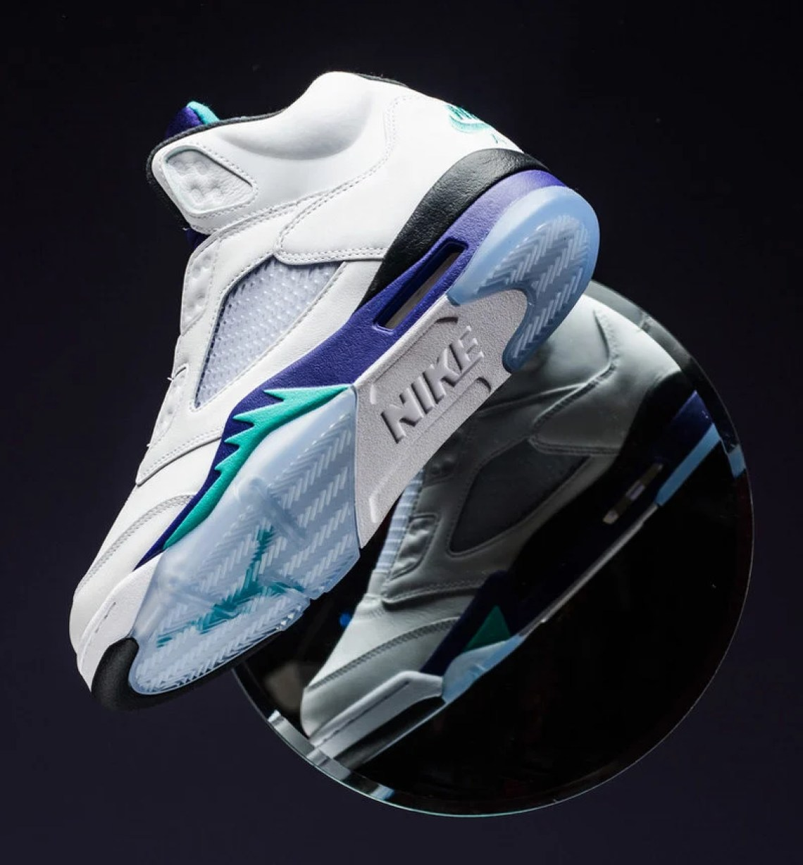 "6b57d891112f Air Jordan 5 ""Fresh Prince"". Colorway  White New Emerald-Grape Ice-Black Release  Date  September 25"