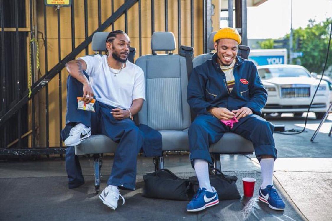 Kendrick Lamar & Anderson Paak in the Nike Cortez
