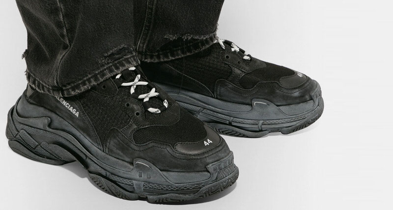 Balenciaga Triple S Shines In Noir Styling Nice Kicks