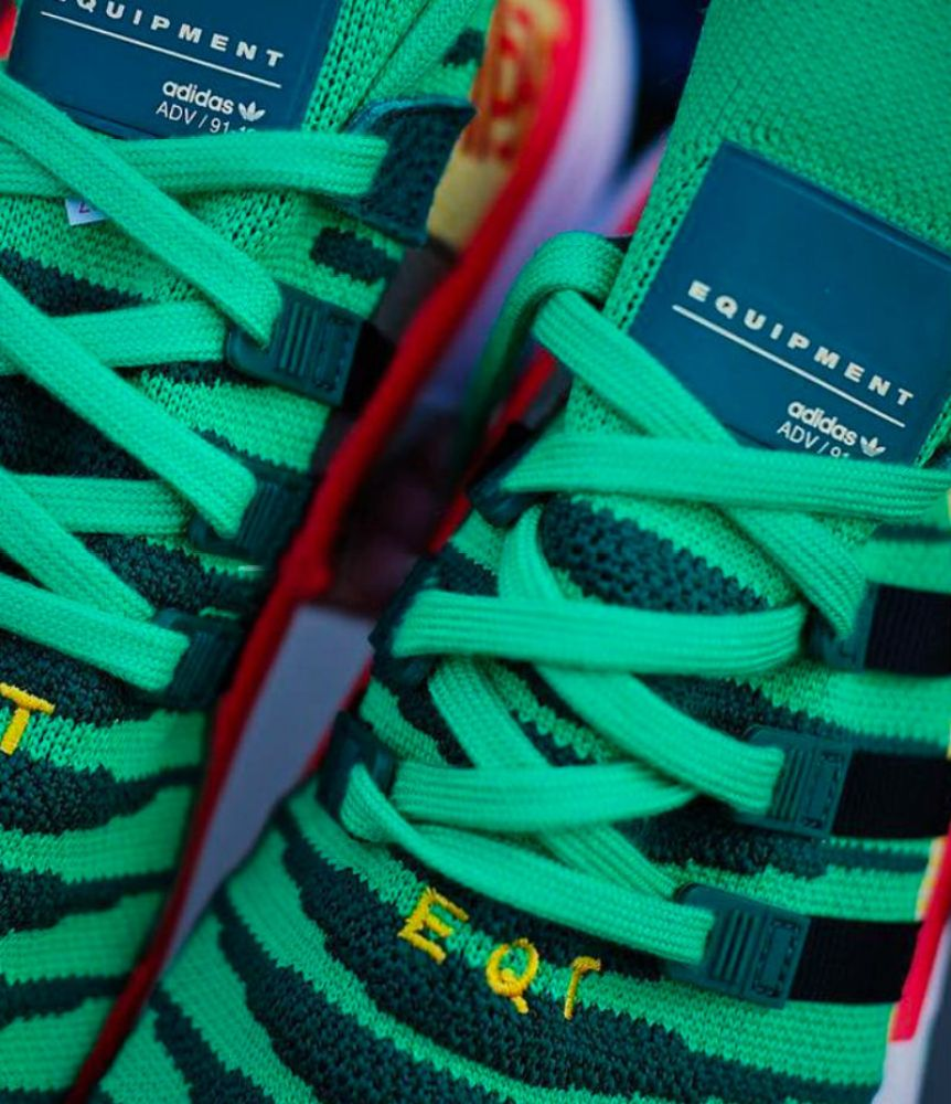 """finest selection e8659 fc85d As of right now, there is no release date for the Dragon Ball Z x adidas  EQT Support Mid ADV """"Shenron"""" but look for the silhouette to be released at  some ..."""