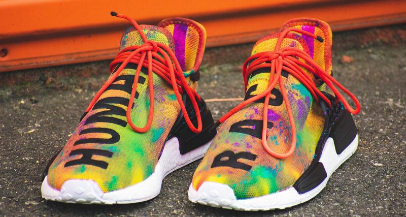 d4767b73b Vibrant Colors Explode on Custom Pharrell x adidas NMD Hu