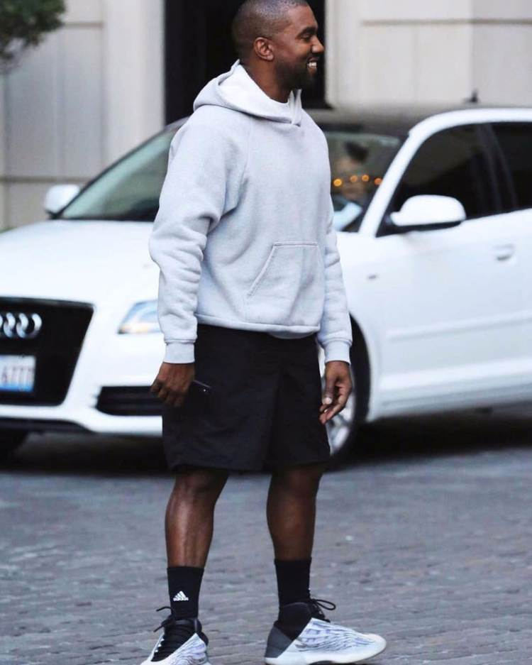 Kanye West in the adidas Yeezy Basketball Sneaker