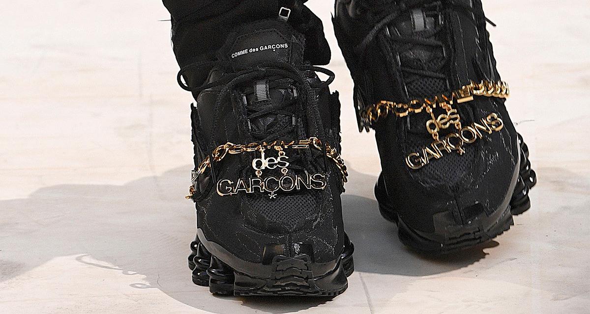 best website 1bfd2 a7b4e COMME des GARÇONS Brought Nike Shox to the Runway