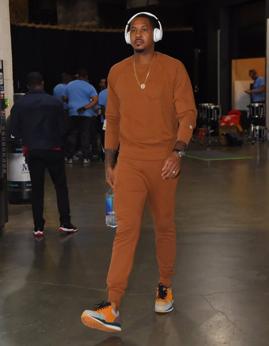 Carmelo Anthony in the Nike Air Safari