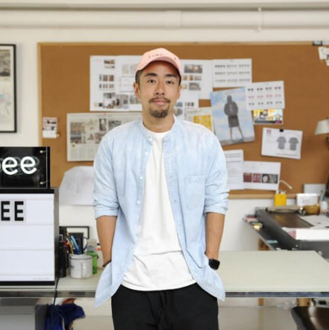 Kevin Poon in the CLOT x Suicoke Sandals