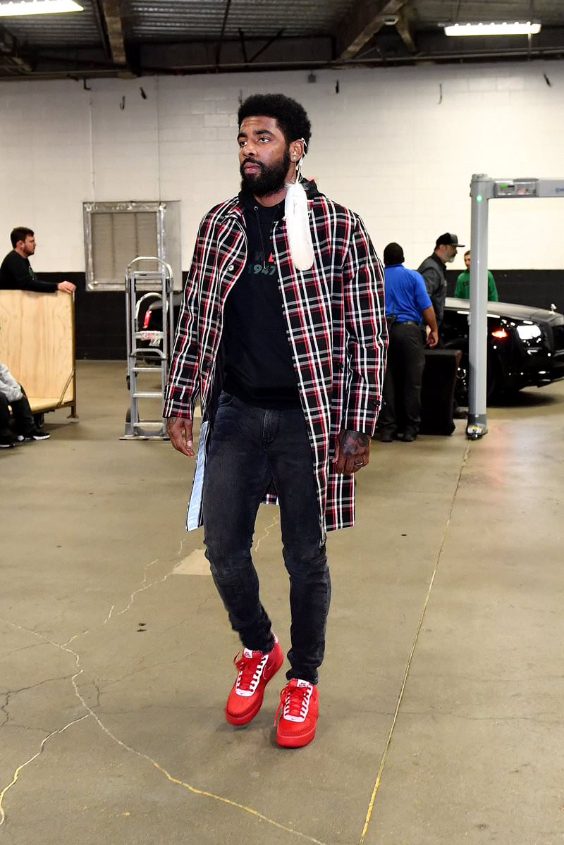 ed4605a20ba4 ... Kyrie Irving in the OBJ x Nike Air Force 1 Low