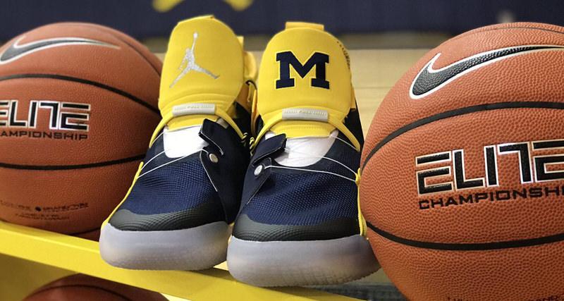 check out e6c26 16c50 Air Jordan 33 Michigan PE Lands in Ann Arbor   Nice Kicks