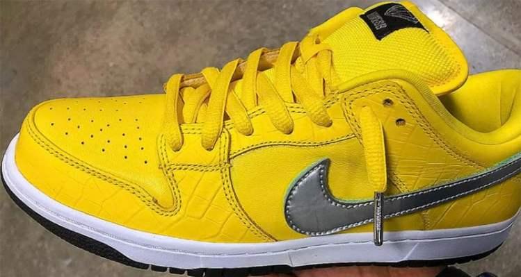 "Diamond Supply Co. x Nike SB Dunk Low ""Canary Yellow"""