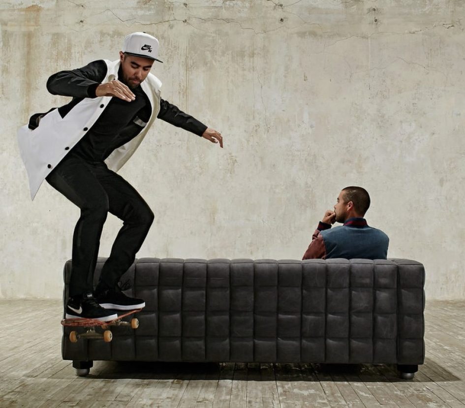 French designer labels, Lanvin and Dior are cool and totally skateable.