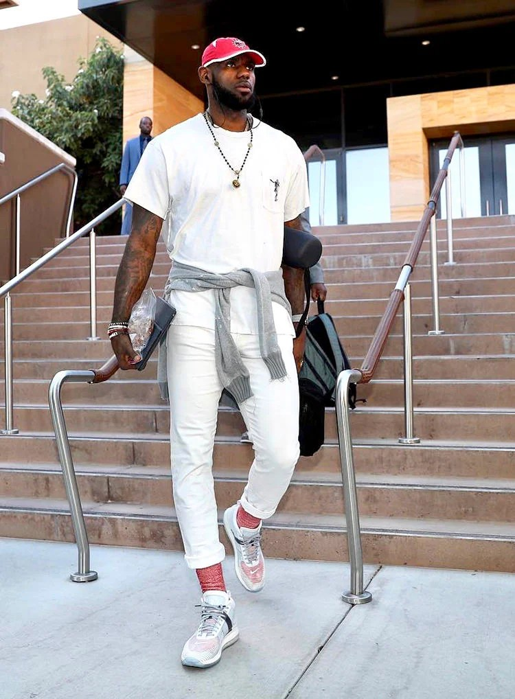 Lebron James in the John Elliott x Nike LeBron Icon