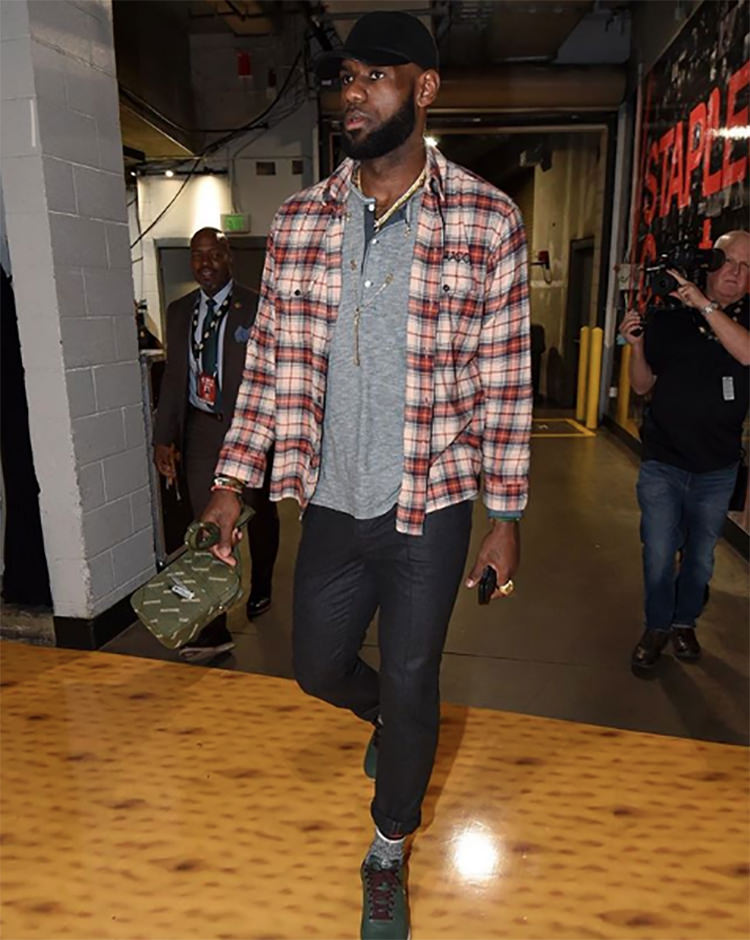 "Lebron James in the Nike Air Force 1 ""Hong Kong"""