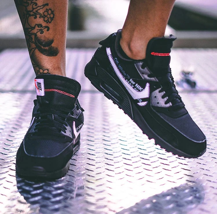 """9db631eccc0 The new Off White x Nike Air Max 90 """"Black"""" shares the same deconstructed  upper"""
