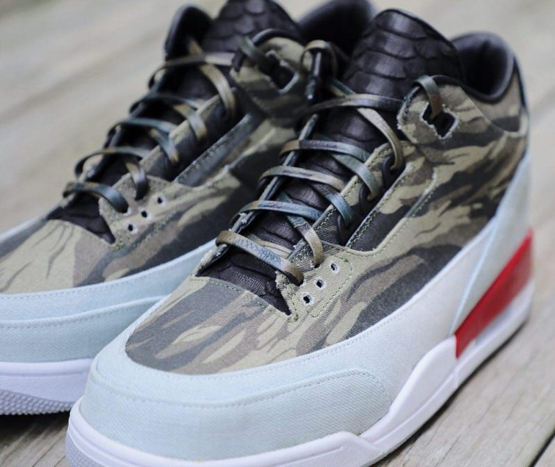 "on sale 511bd 3e989 Custom Air Jordan 3 ""Tiger Camo"""
