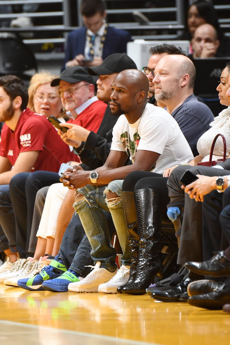 Floyd Mayweather in the Nike Air Max 90