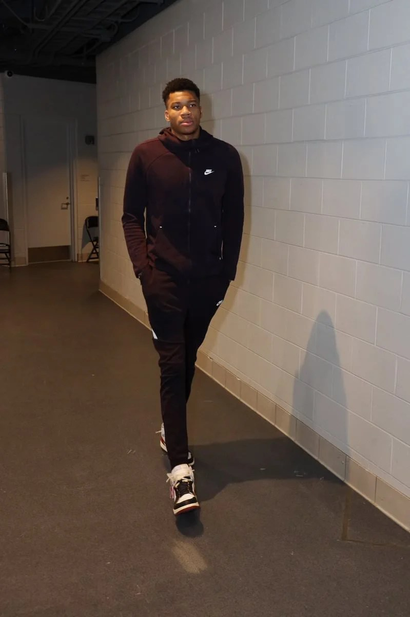 Giannis Antetokounmpo in the Union Los Angeles x Air Jordan 1