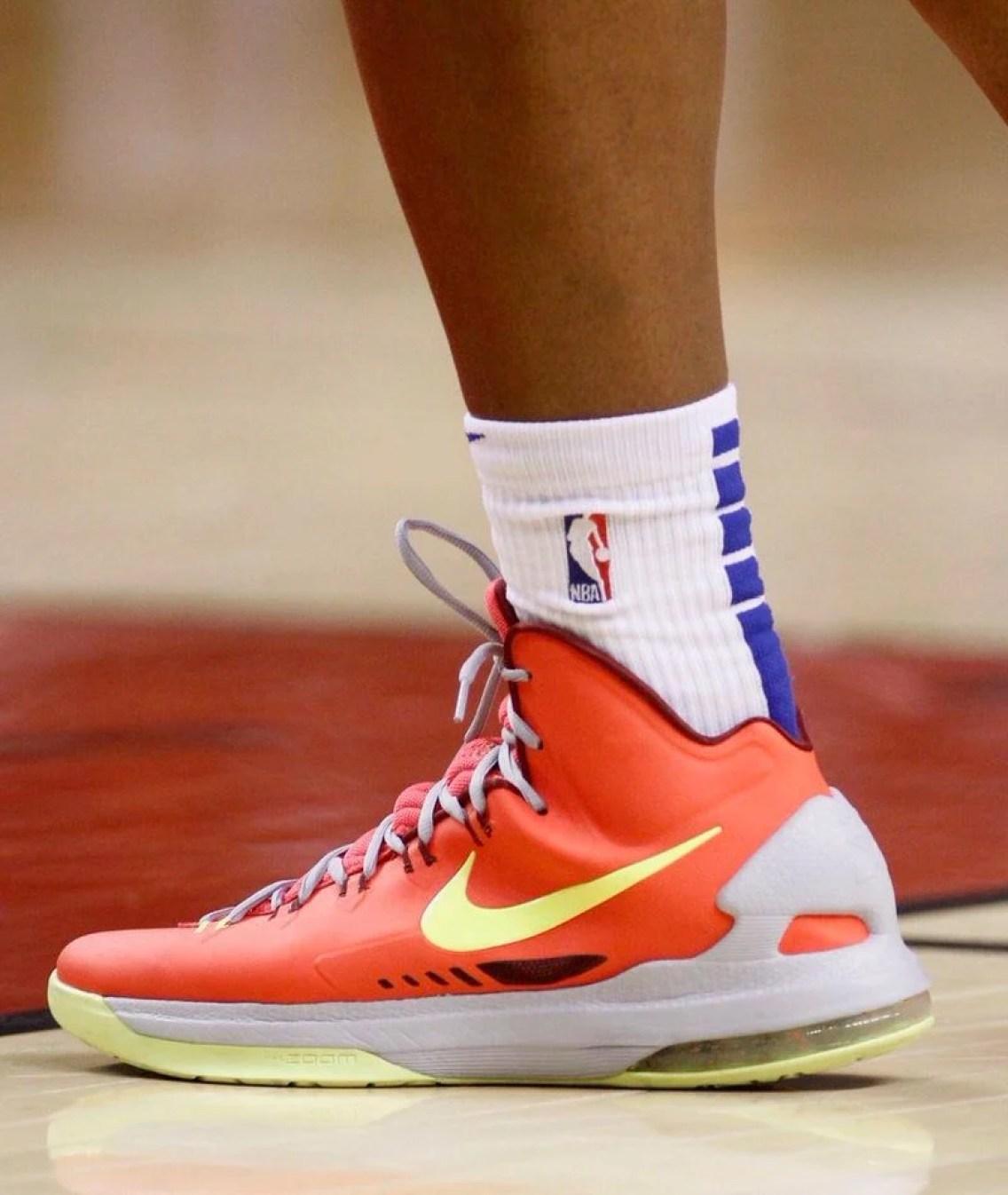 "ac086ebee9c8 Allonzo Trier in the Nike KD 5 ""DMV"" (John E. Sokolowski-USA TODAY Sports)"