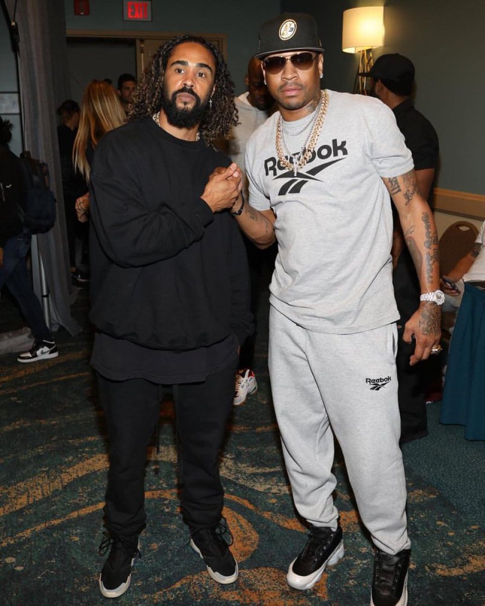 Jerry Lorenzo in the Nike Air Fear of God 1 & Allen Iverson in the Reebok Answer DMX 10