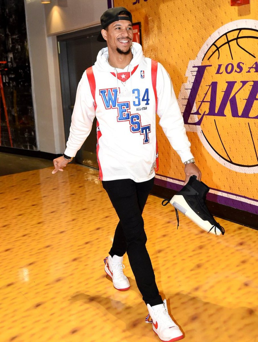 Josh Hart in the Riccardo Tisci x Nike Air Force 1 High