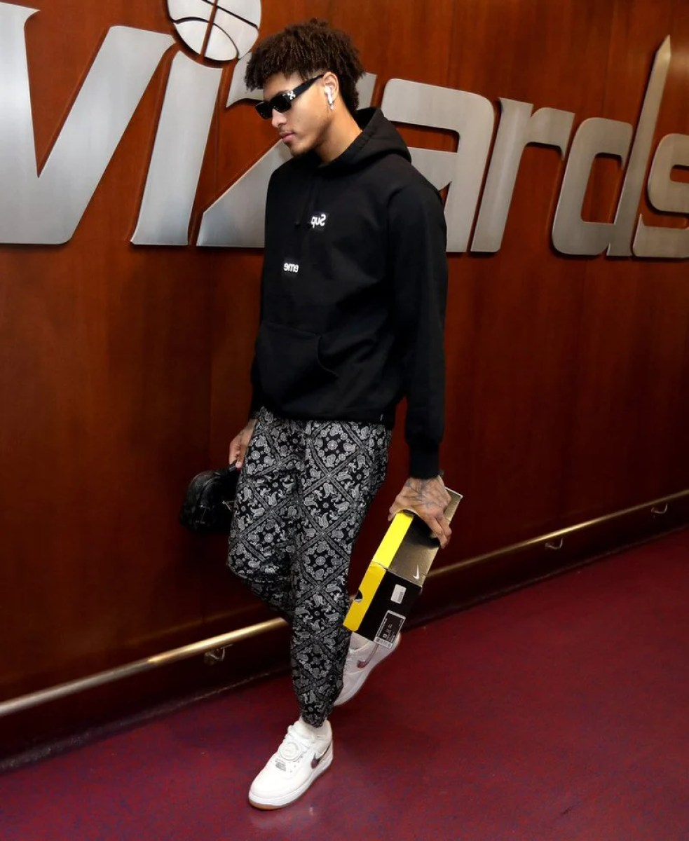 Kelly Oubre in the Travis Scott x Nike Air Force 1 Low