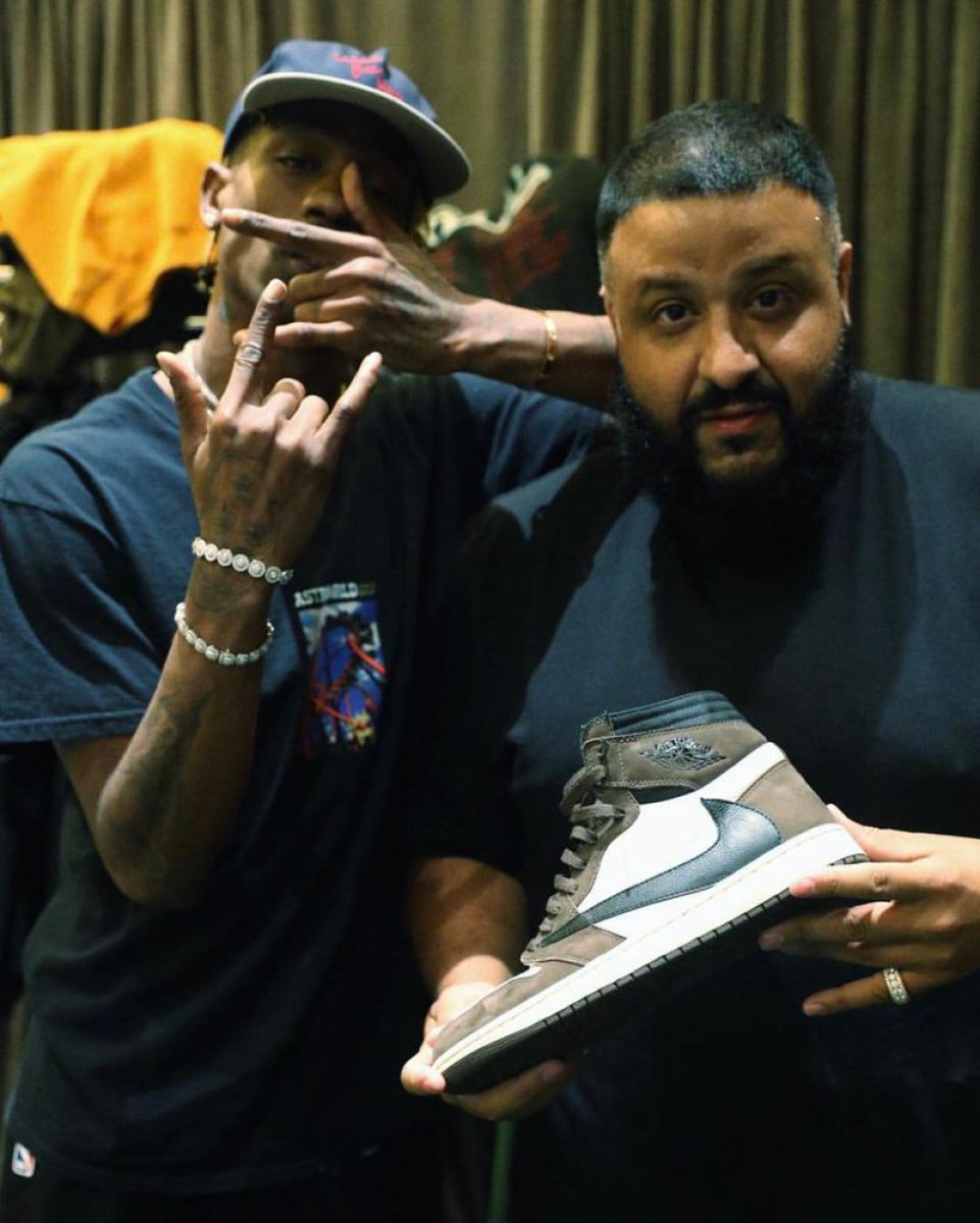 DJ Khaled with the Travis Scott x Air Jordan 1