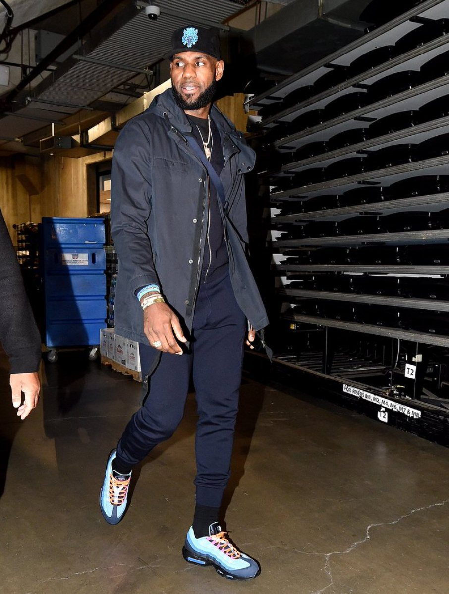 Lebron James in the Nike Air Max 95
