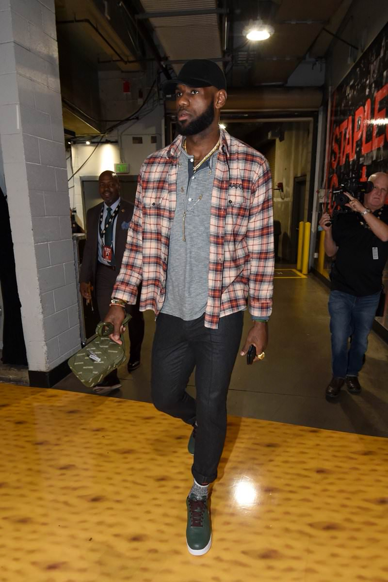 "Lebron James in the Nike Air Force 1 Low ""Hong Kong"""
