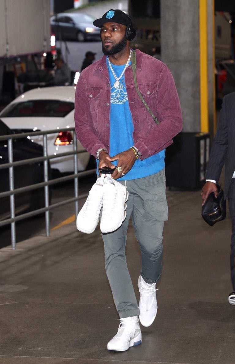 Lebron James in the Nike Air Fear of God 1
