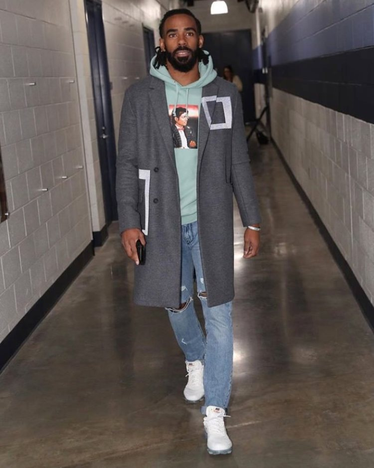 "Mike Conley in the Off White x Nike Air Vapormax 2.0 ""White"""