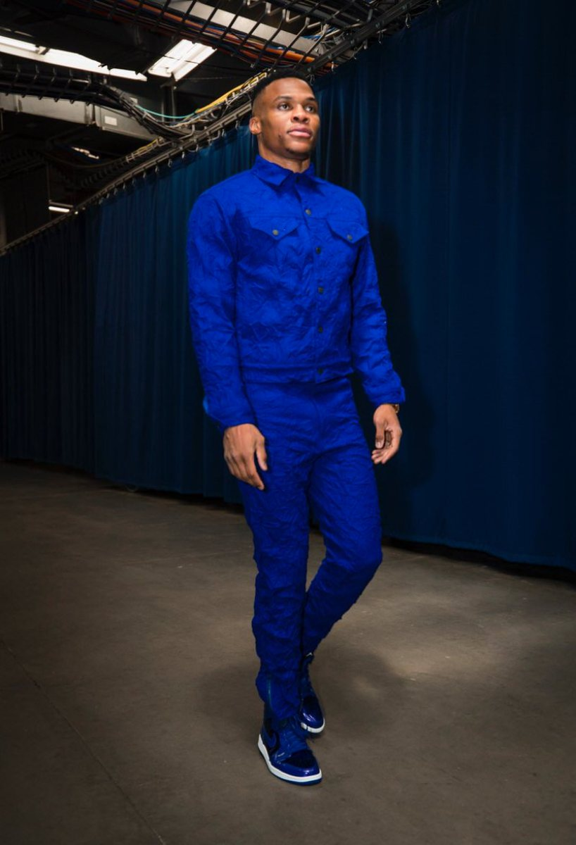 Russell Westbrook in the Air Jordan 1 Mid
