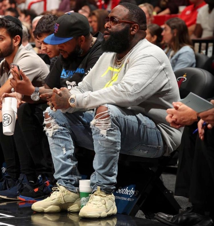 Rick Ross in the adidas Yeezy 500 'SuperMoon'