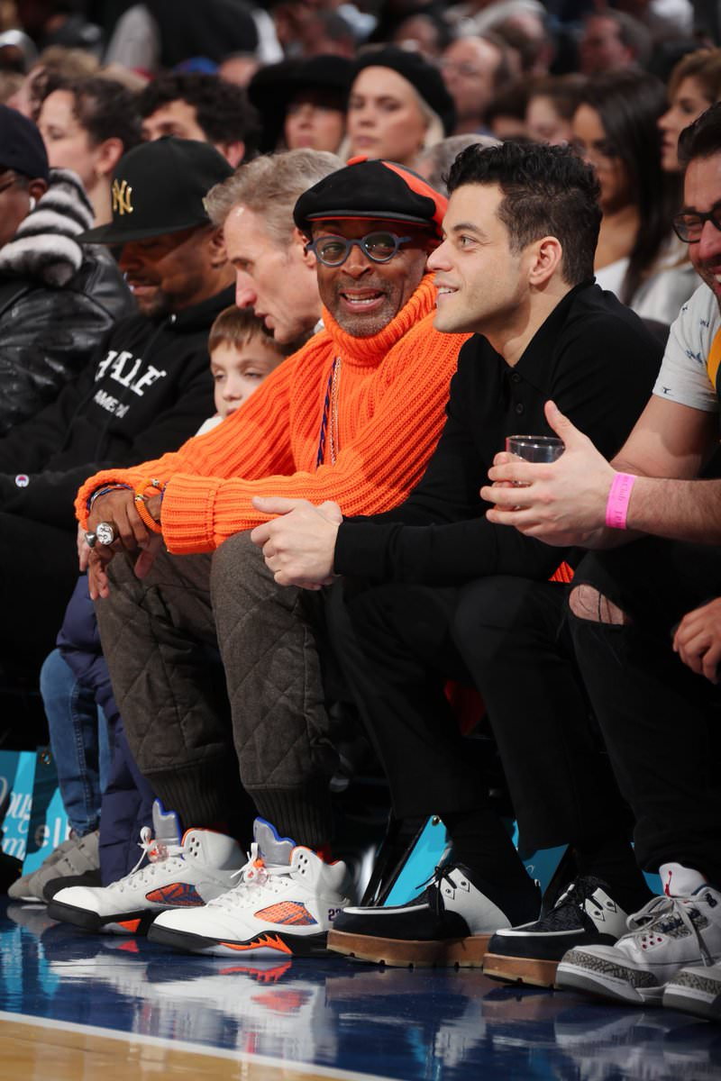 Spike Lee in the Air Jordan 5 Retro