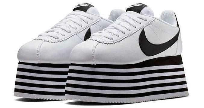 Comme Des Garcons And Nike Go Sky High Nice Kicks