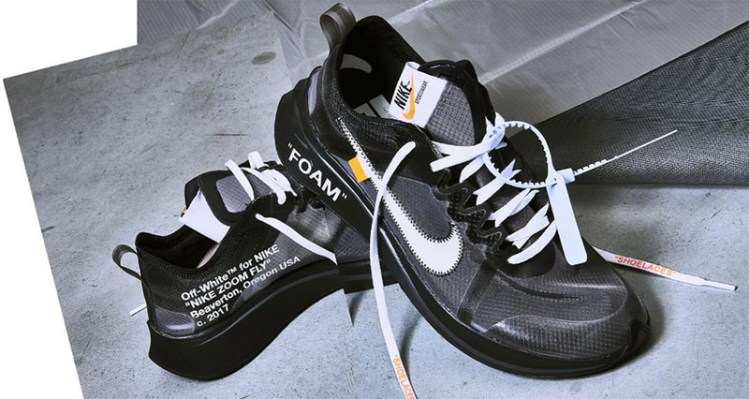"Off White x Nike Zoom Fly SP ""Black"""