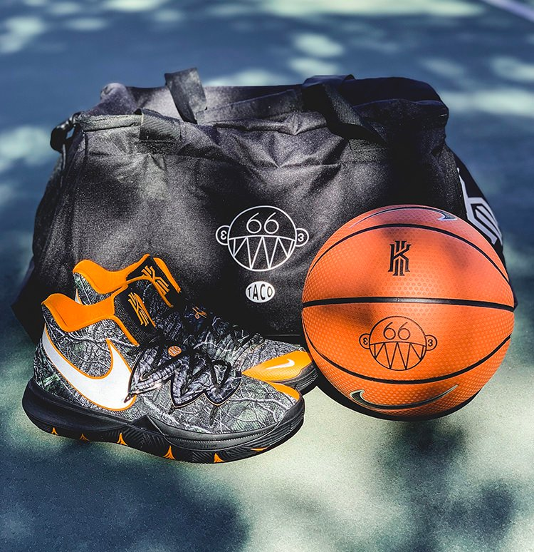 3d7810272847 ... Hollywood Recreation Center and Lemon Grove Recreation center to give  out special edition Taco x Nike Kyrie 5 packs that come with a special ball  and ...