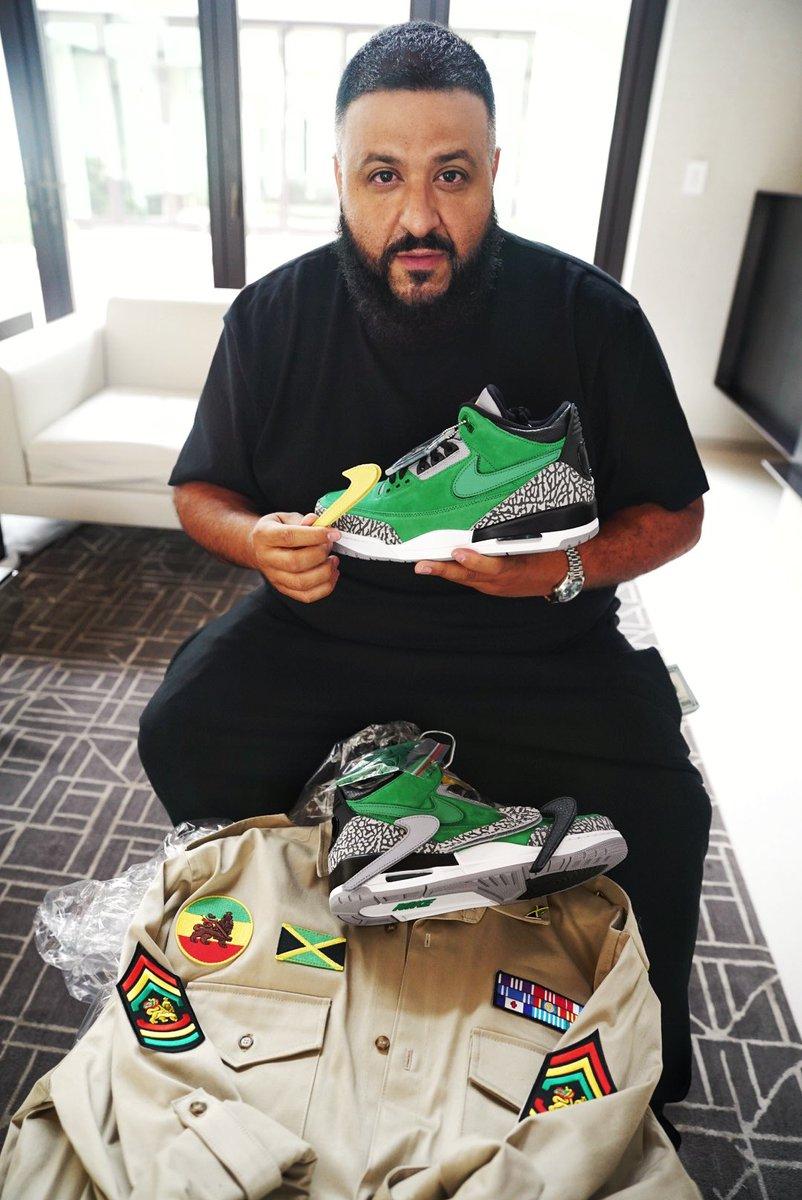 "DJ Khaled in the Air Jordan 3 Retro ""Oregon"""
