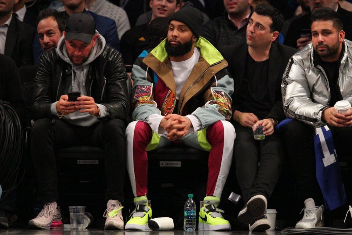 Odell Beckham in the Nike Air Force 1 Low Utility