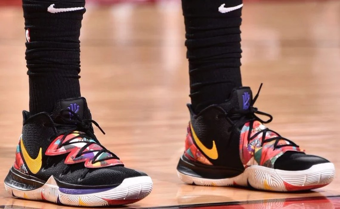"e61ec9771894 Kyrie Irving in the Nike Kyrie 5 ""Chinese New Year"" (via Slam Kicks)"