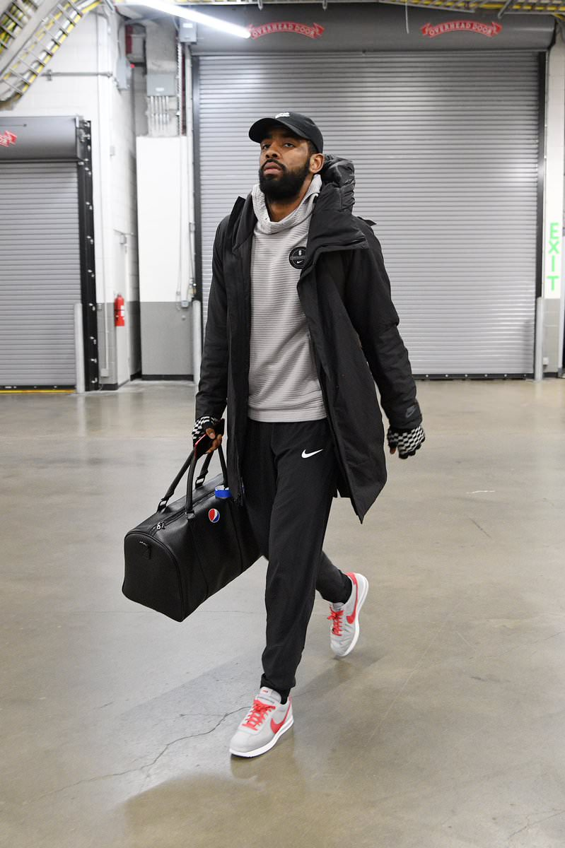 Kyrie Irving in the Nike Cortez