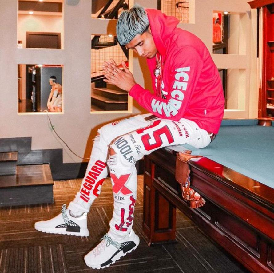 "Kap G in the adidas x Pharrell Williams Hu NMD ""Inspiration Pack"""