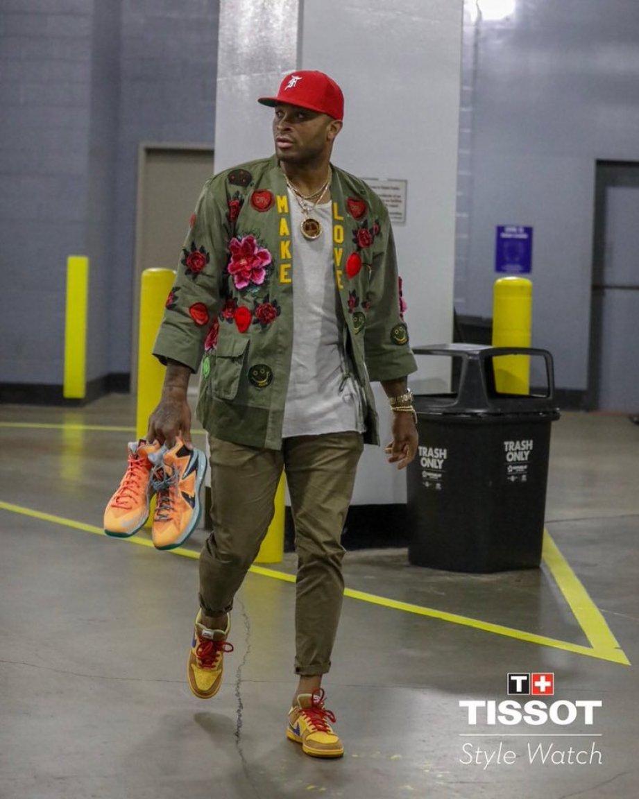 """PJ Tucker in the Nike Dunk SB Low 'New Castle"""""""