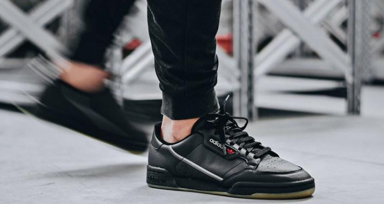 adidas Continental 80 Black/Gum