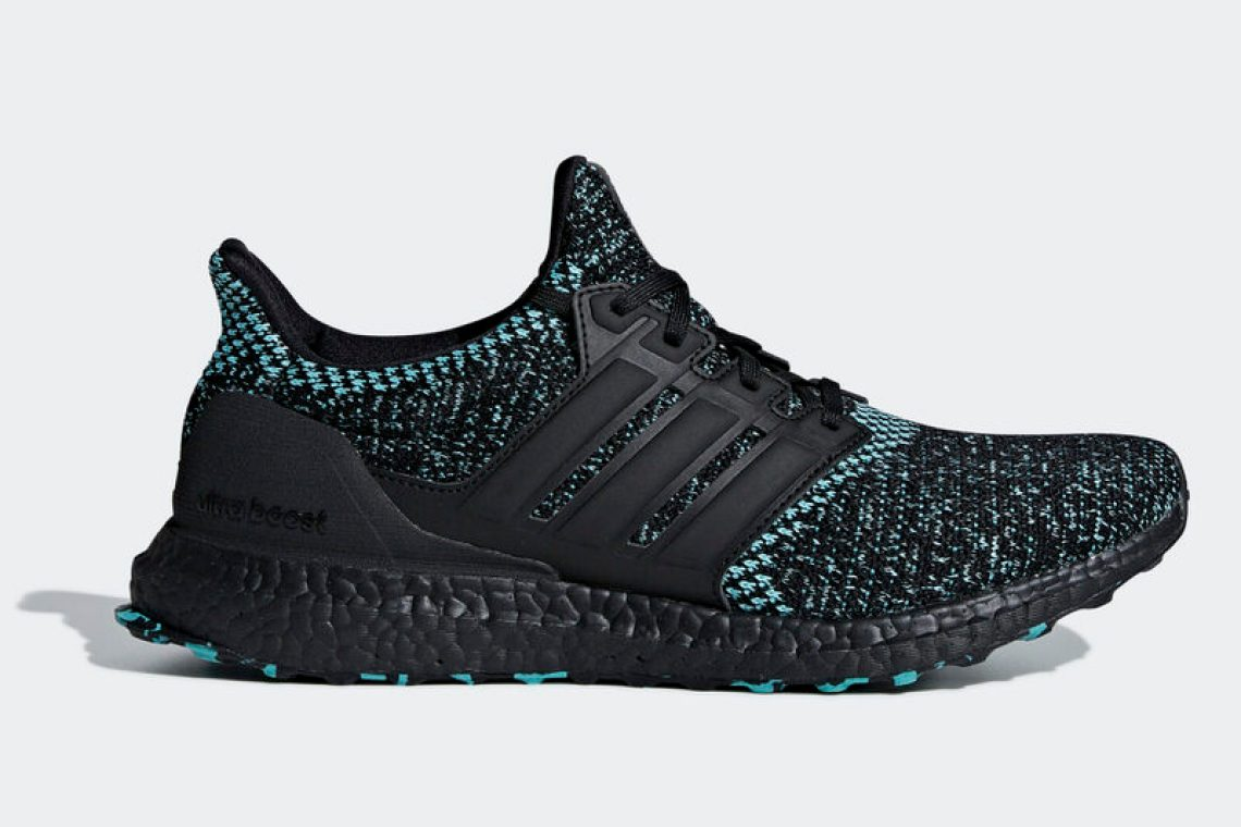 0013f2ec0 A Core Black Primeknit base scores a facelift thanks to True Green accents  for a seasonal style. Black Boost tooling also caters to the times while a  camo ...